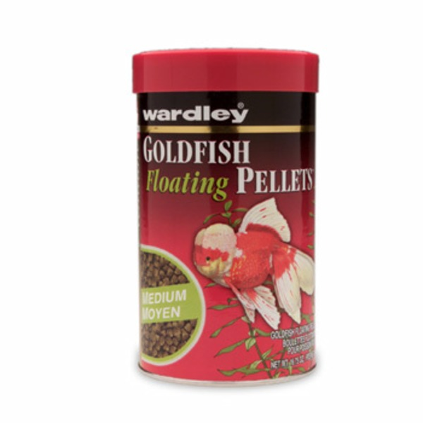 Wardley Pellet Food, Goldfish, Floating, Medium