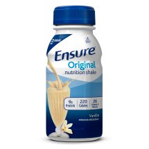 Ensure Original Nutrition Shake Vanilla with 9 grams of protein, Meal Replacement Shakes, 8 fl oz Bottles (Pack of 16)