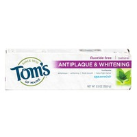 Toms of Maine Toothpaste, Fluoride-Free, Antiplaque & Whitening, Spearmint
