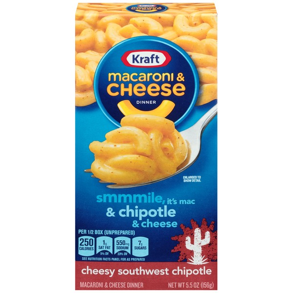 Kraft Dinners Cheesy Southwest Chipotle Macaroni & Cheese Dinner