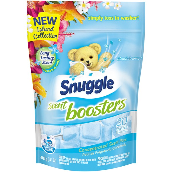 Snuggle Concentrated Scent Pacs Island Dreams 20 Loads Scent Boosters