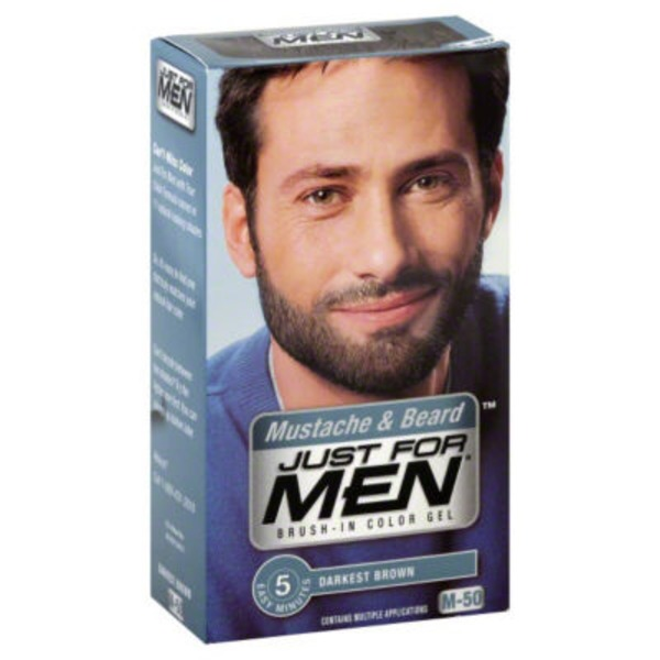 Just For Men Mustache & Beard Darkest Brown M-50 Brush-In Color Gel