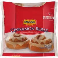 Rhodes with Cream Cheese Frosting Cinnamon Rolls