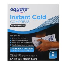 Equate Instant Cold Compress, 5.75 inches X 8.5 inches, 2 Count