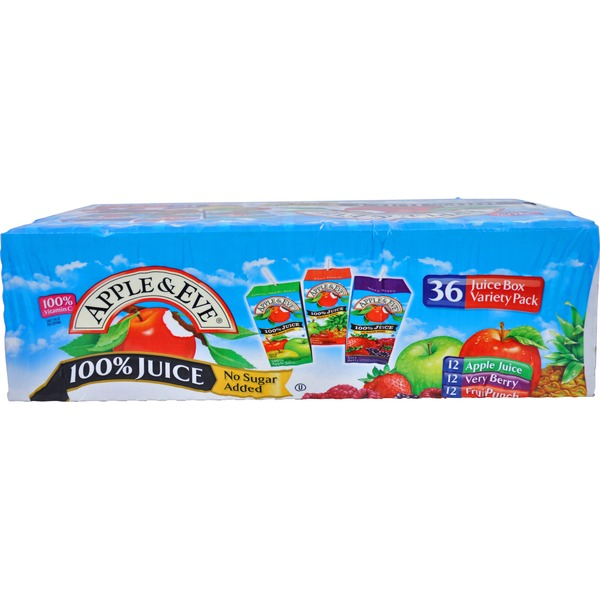 Apple & Eve Organics Apple/Grape/Fruit Punch Variety Pack 100% Juice