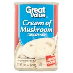 Great Value Cream of Mushroom Canned Soup, 10.5 oz