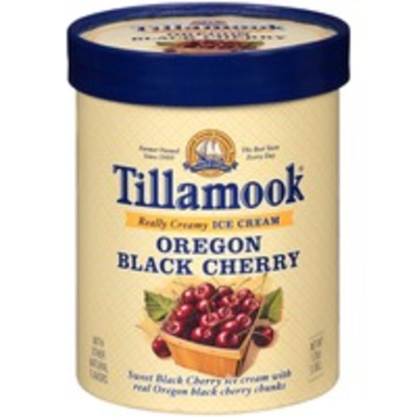 Tillamook Oregon Black Cherry Ice Cream