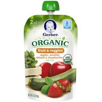 Gerber Organic 2 Nd Foods Organic Apples, Zucchini, Spinach & Strawberries Baby Food