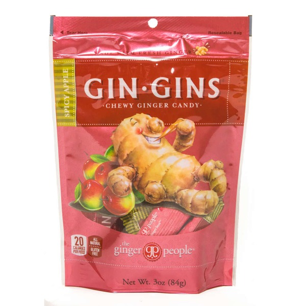 The Ginger People Gin Gins Spicy Apple Ginger Chews
