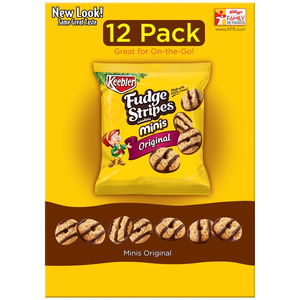Keebler Fudge Stripes Minis Original Cookies