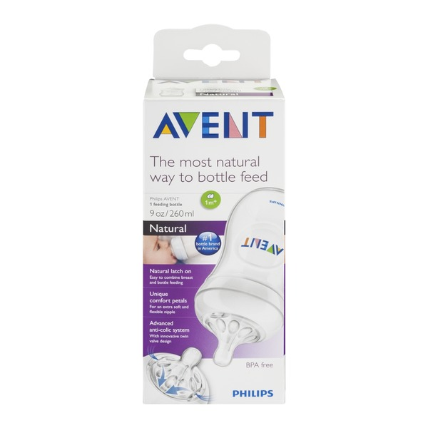 Philips Avent Feeding Bottle Natural (1m+)