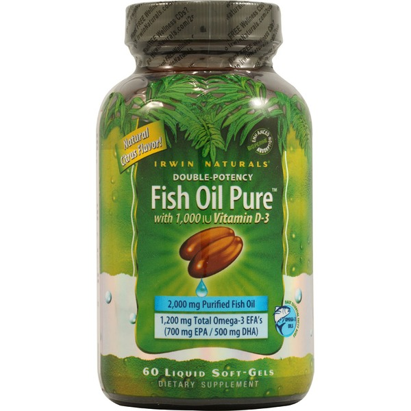 Irwin Naturals Fish Oil Pure With Natural Citrus Flavor Softgels