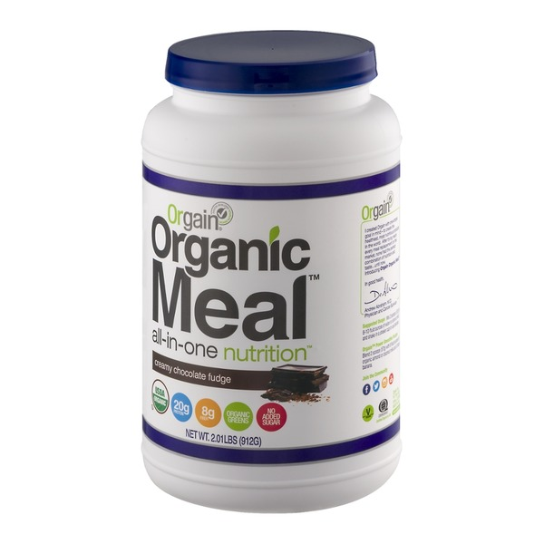 Orgain Organic Meal All-In-One Nutrition Creamy Chocolate Fudge