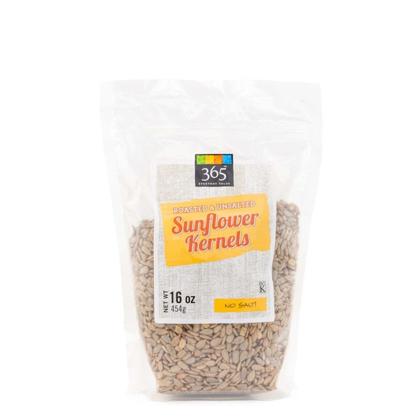 365 Roasted Unsalted Sunflower Kernels