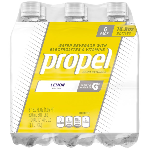 Propel Zero Calories Lemon Flavored Water