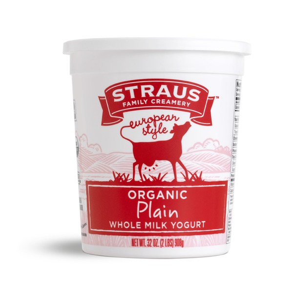 Straus Family Creamery Organic Plain Whole Milk Yogurt