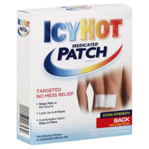 Icy Hot IcyHot Medicated Patches for Back and Large Areas Extra Strength - 5 CT