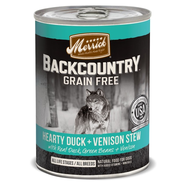 Merrick Back Country Grain Free Hearty Duck & Venison Stew Natural Food for Dogs