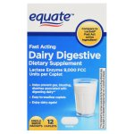 Equate Fast Acting Dairy Digestive Dietary Supplements, 12 Count