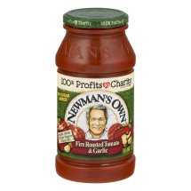 Newman's Own Pasta Sauce Fire Roasted Tomato & Garlic, 24.0 OZ