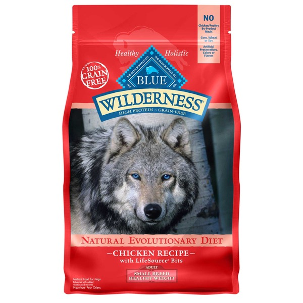 Blue Buffalo WIlderness Natural Evolutionary Diet Chicken Recipe Adult Small Breed Healthy Weight Natural Food For Dogs