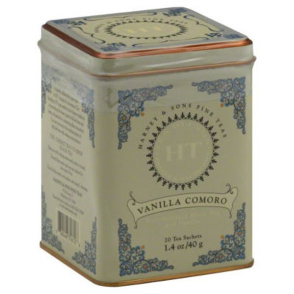 Harney & Sons Decaffeinated Black Tea Blends Vanilla Comoro - 20 CT