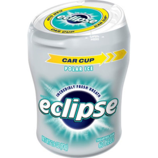 Eclipse Sugarfree Gum Polar Ice - 60 Pieces
