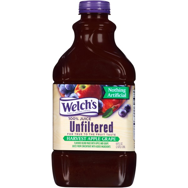 Welch's Unfiltered Harvest Apple Grape 100% Juice