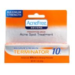 AcneFree Maximum Strength Terminator 10, Acne Spot Treatment with Benzoyl Peroxide, 1 oz.
