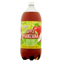 Great Value Apple Manzana Soda, 2 L