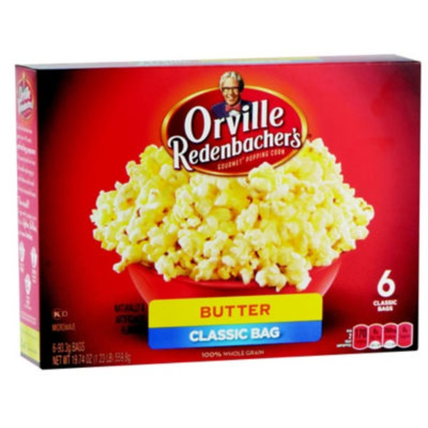 Orville Redenbacher's Gourmet Popping Corn Butter Classic Bag - 6 CT