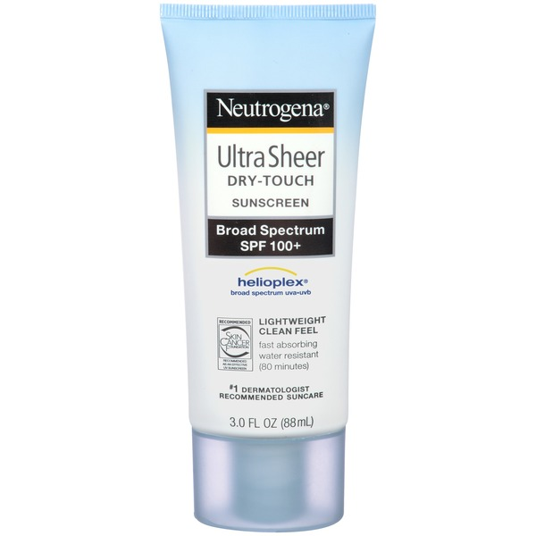 Neutrogena® Ultra Sheer Sunscreen, Dry-Touch, Broad Spectrum SPF 100+