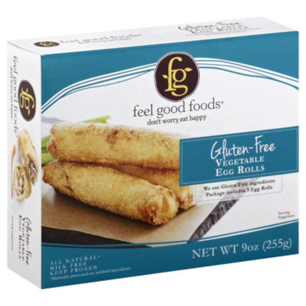 Feel Good Foods Egg Rolls, Gluten-Free, Vegetable
