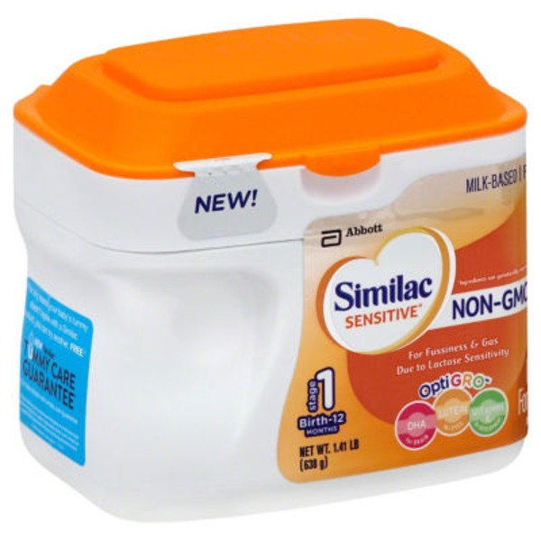 Similac Sensitive OptiGRO Non-GMO with Iron Infant Formula