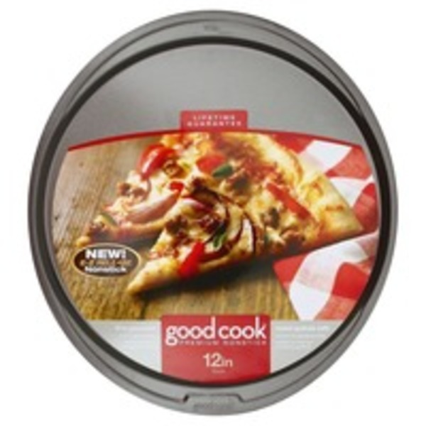 Good Cook Pro Pizza Pan, Premium Nonstick, 12 in, Not Packed