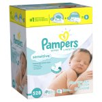 Pampers Baby Wipes Sensitive 9X Combo Pack 528 Count