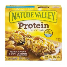 Nature Valley™ Protein Chewy Bar Gluten Free Peanut Almond and Dark Chocolate 1.42 oz Bars 5 ct Box, 1.42 OZ