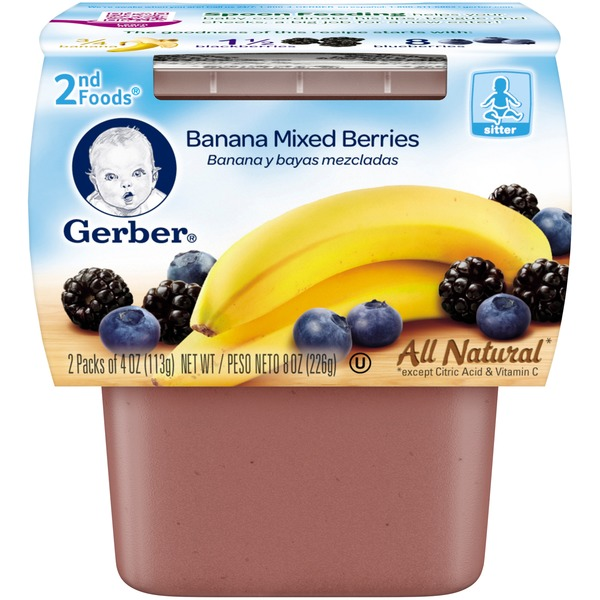Gerber Foods Banana Mixed Berries Baby Food