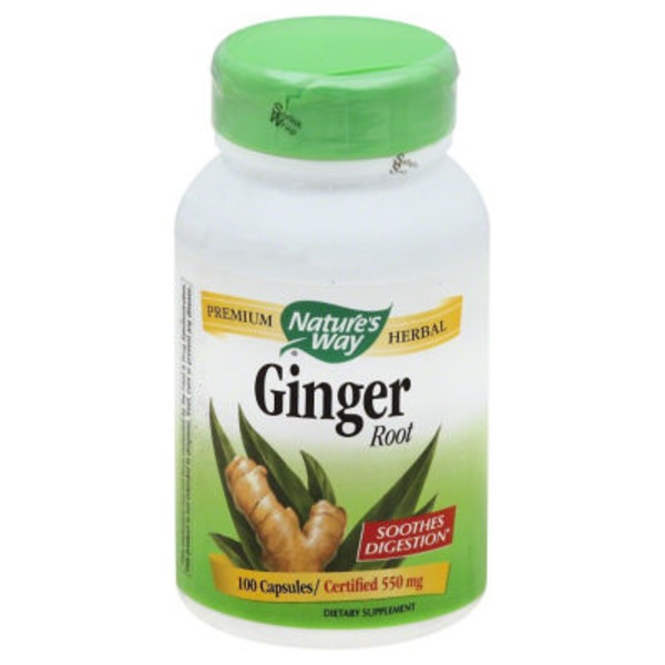 Nature's Way Ginger Root 550mg Capsules - 100 CT