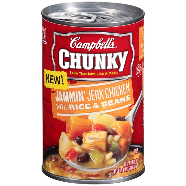 Campbell's Jammin' Jerk Chicken with Rice & Beans Soup