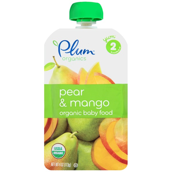 Plum Baby Stage 2 Pear & Mango Organic Baby Food