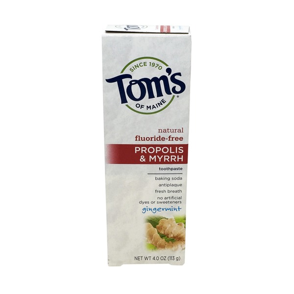Tom's of Maine Propolis & Myrrh Gingermint Fluoride-Free Toothpase