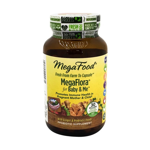 MegaFood Megaflora For Baby And Me Probiotic Supplement