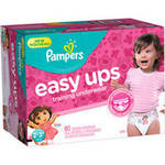 Pampers Easy Ups Girls Training Pants Size 2T-3T