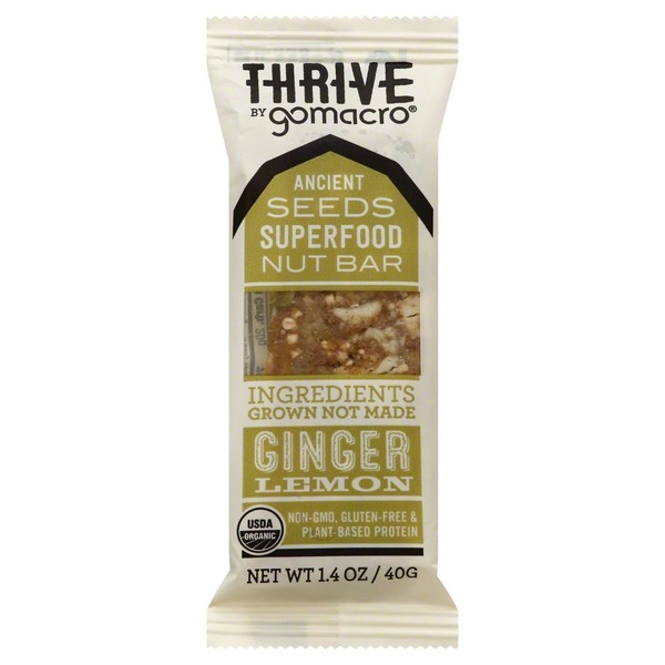 GoMacro Nut Bar, Ginger Lemon, Thrive, Wrapper