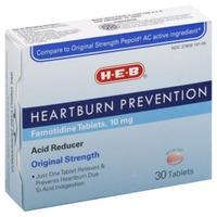 H-E-B Original Strength Heartburn Prevention Famitodine Tablets 10mg