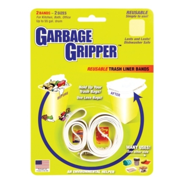 Garbage Gripper Trash Liner Bands Rubber