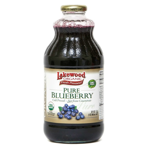 Lakewood Juice, Blueberry, Pure, Bottle