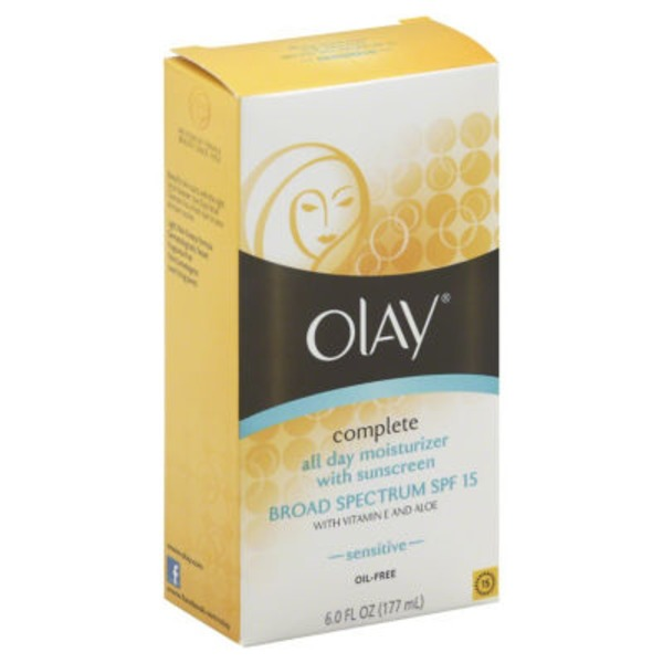 Olay Complete Olay Complete All Day Moisturizer with Broad Spectrum SPF 15 Sensitive, 6.0 fl oz Female Skin Care