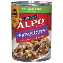 Purina ALPO Prime Cuts with Lamb & Rice Wet Dog Food, 13.2 Oz.